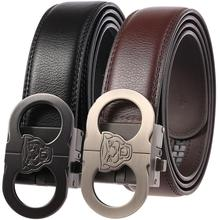 2019 Mens Tiger Head Buckle Belt Fashion Cow Leather Belt Casual Luxury Business Male Belts Automatic Buckle Men Black Belt 2019 mens fashion designer popular belt leather casual luxury business male belts automatic buckle men black brown belt