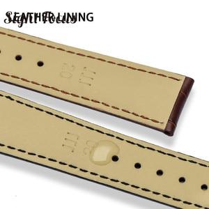 Image 3 - 18mm 19mm 20mm 21mm Bracelet en cuir pour Omega montre vitesse couturière Bracelet fermoir déployant noir marron Bracelet de montre Bracelet ceinture