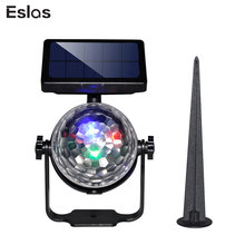 Eslas Outdoor Colorful Lawn Lamp Solar Power Waterproof IP65 Rotate Projector Light For Holiday Christmas New Year Decoration(China)