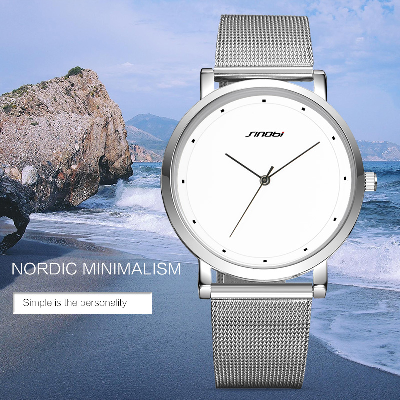 Prix pour Sinobi mode hommes montres étanche minimalisme de luxe marque maître mâle genève horloge à quartz sport montres hommes 2017