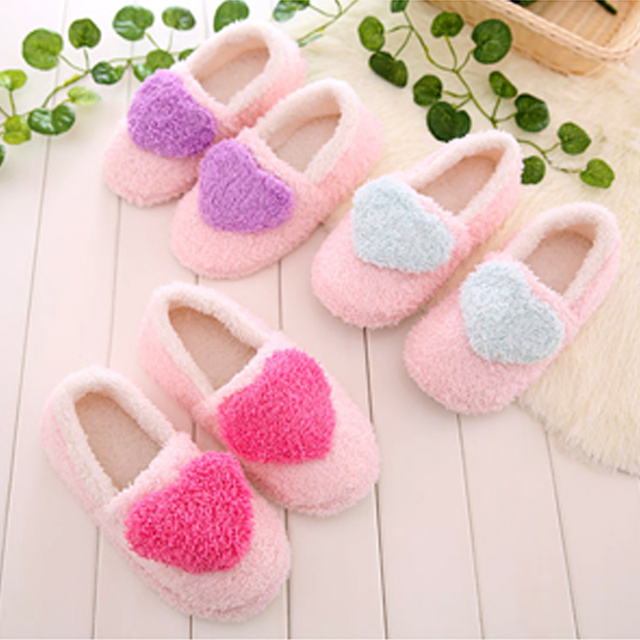 New Womens Lady Girl Cute Love Heart Soft Warm Indoor Home Bedroom ...