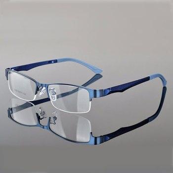 Reven Jate Half Rimless Eyeglasses Frame Optical Prescription Semi-Rim Glasses Frame For Women's Eyewear Female Armacao Oculos