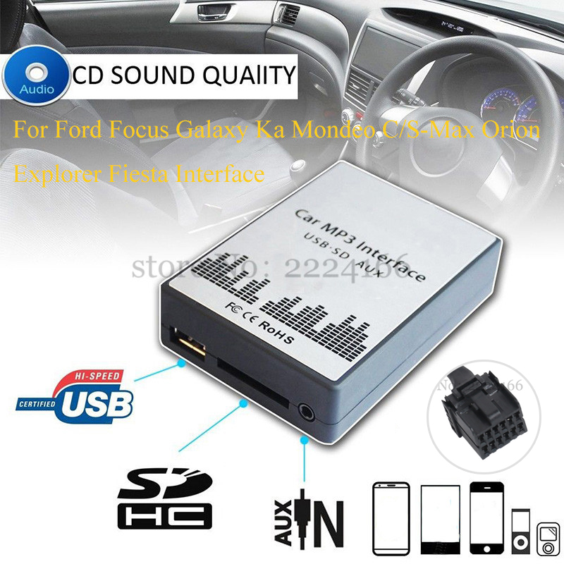 SITAILE USB SD AUX Car MP3 music player Adapte for Ford Focus Galaxy Ka Mondeo S/C-Max Orion Explorer Interface Car styling kit welly welly набор служба спасения пожарная команда 4 штуки