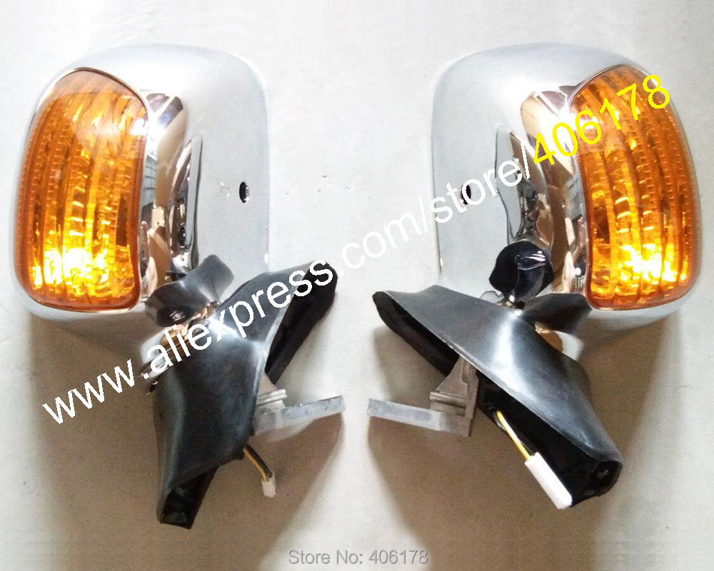 Hot Sales,Rear Mirror Rearview Turn Signal Light Side For Honda Goldwing GL1800 2001 2011 GL 1800 Chrome Motorcycle Parts