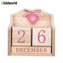 European Decor Wood Furniture Diy Wooden Creative Calendar Handicrafts Home Decorations New Year Gift