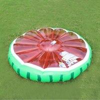 diameter 140cm watermelon water air mattress adult swimming pool toy lounge floating island beach toy aqua fun pvc rider B40016