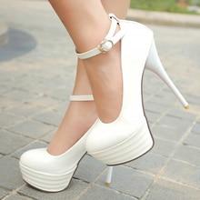 Meotina High Heels Women Shoes White Bridal Shoes Sexy Ultra High Heels Night Club Woman Platform Heels Big Size 42