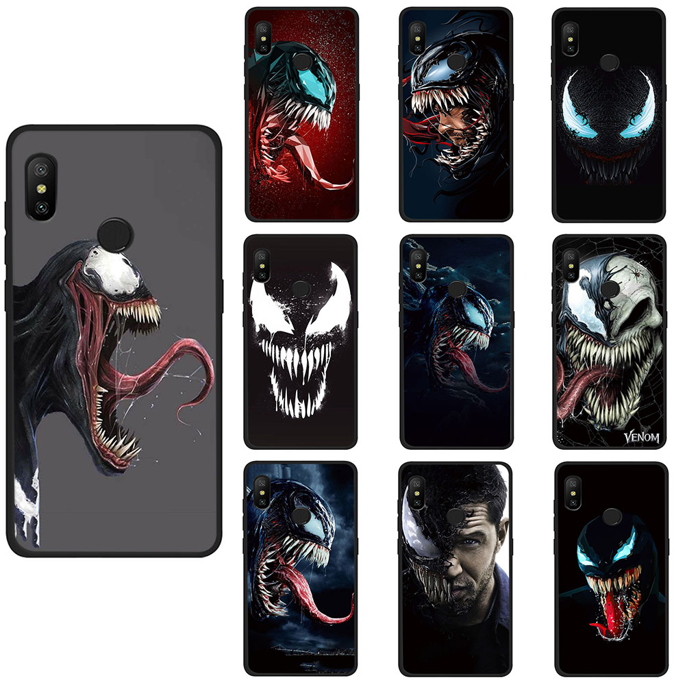 <font><b>Marvel</b></font> Comic Book Artwork VENOM Soft TPU phone cover <font><b>case</b></font> for <font><b>Redmi</b></font> K20 4A 4X 5 6 5A 6A 7 Go <font><b>Note</b></font> 5 6 7 8 Pro image