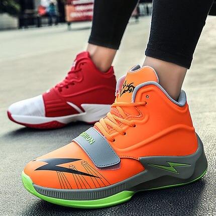 Tendance Sauvages Hommes rouge Hip Coréenne La Version Aider Haute Noir Respirant orange De Chaussures Hop vwXc1x
