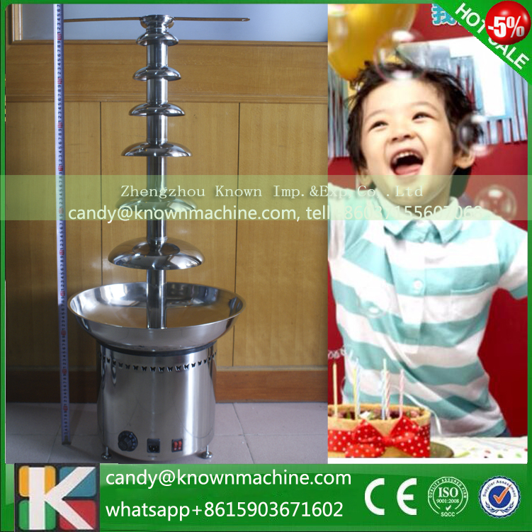 7 tier Stainless steel commercial chocolate fondue fountain machine maker for wedding birthday party hotel