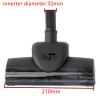 Innerter 32mm Diameter Vacuum Cleaner Mites Wind Driven Brush Vibration Brush Turbo Brush With Soft Pulley