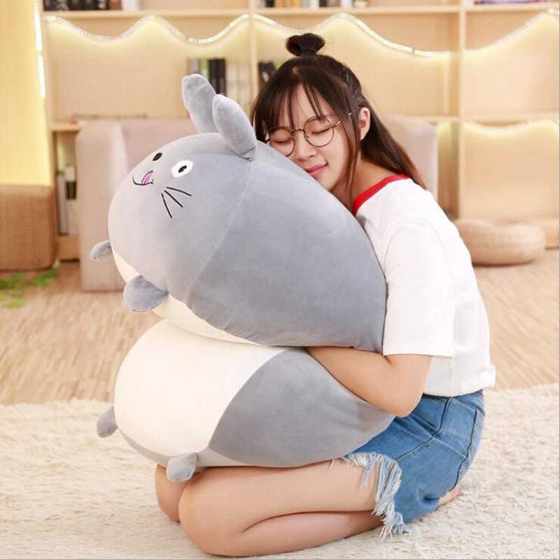 جديد لينة الحيوان الكرتون وسادة وسادة لطيف الدهون الكلب القط Totoro البطريق خنزير الضفدع ألعاب من نسيج مخملي محشوة جميل هدايا أعياد ميلاد للأطفال