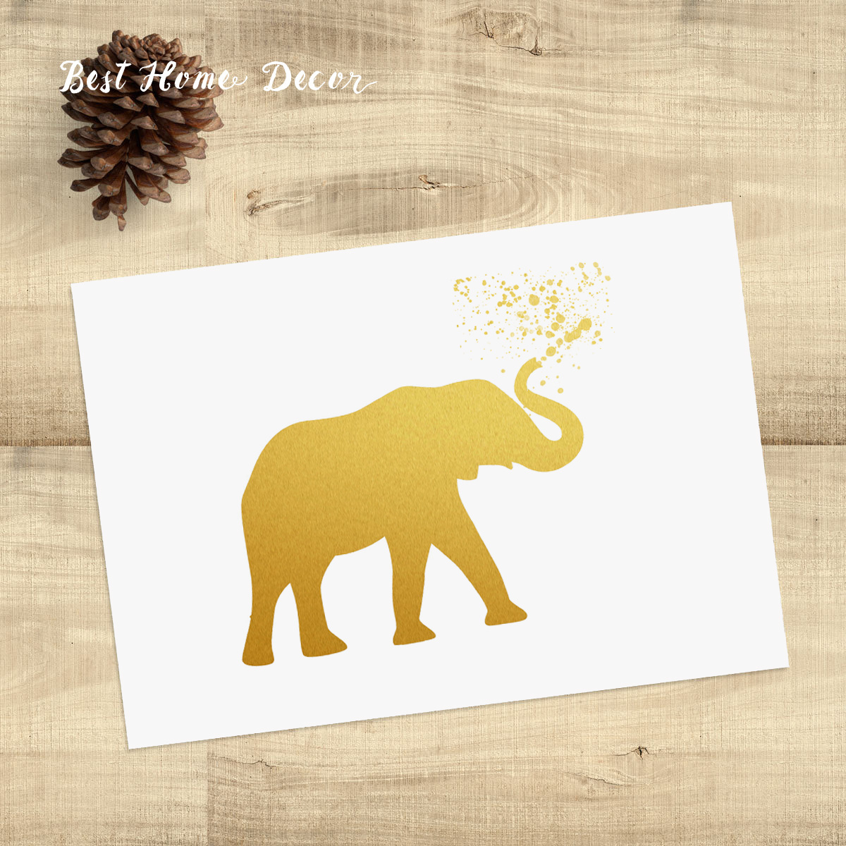Gold Elephant Wall Decor : Buy wholesale foil art prints from china