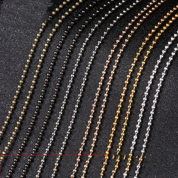 5 Meters 1.2mm 1.5mm 2mm 2.4mm Metal Ball Chains Bracelet Necklace Chain Round Ball Bead Chains Bulk for DIY Jewelry Making цена 2017