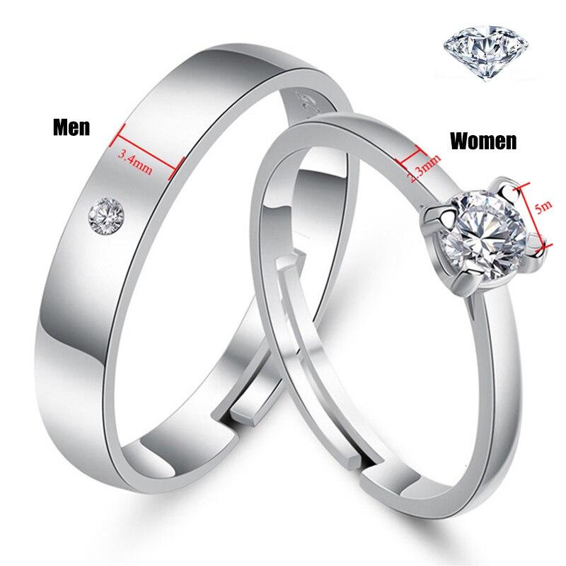 Qevila Fashion Jewelry Rings Romantic Engagement Wedding Rings Original Design Jewelry Cubic Zirconia Ring for Women Men Lover (4)