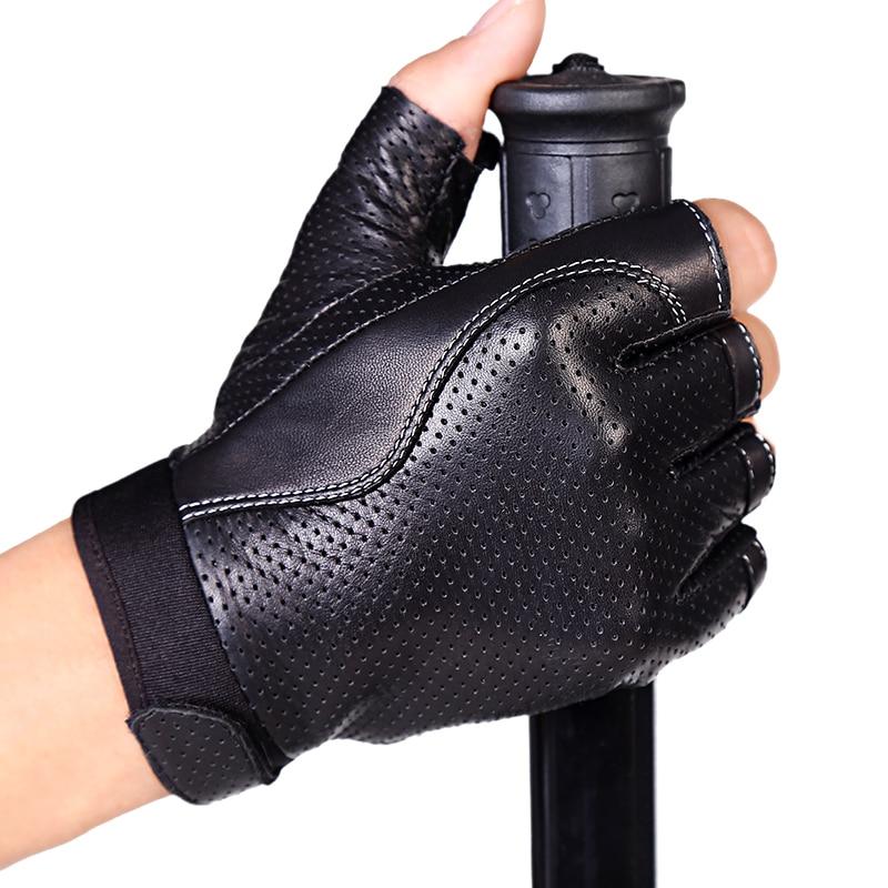 Mănuși din piele autentică Semi-Deget Primăvară și Toamnă - Accesorii pentru haine
