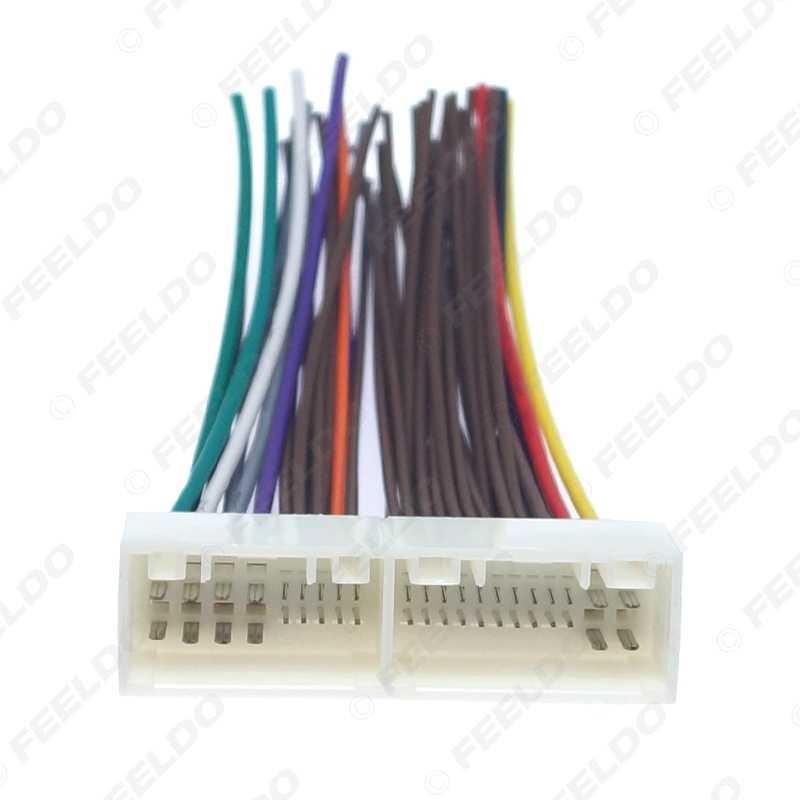 FEELDO 1Pc רכב רדיו אודיו 42Pin חיווט לרתום מתאם עבור יונדאי IX35/Elantra/סנטה פה/סונטה CD/DVD סטריאו התקנה