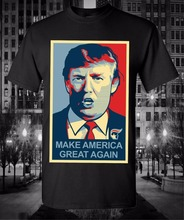Fashion Funny Print Donald Trump Make America Great Again Coloured Portrait T-Shirt Men Future President Cotton Short Sleeve Tee