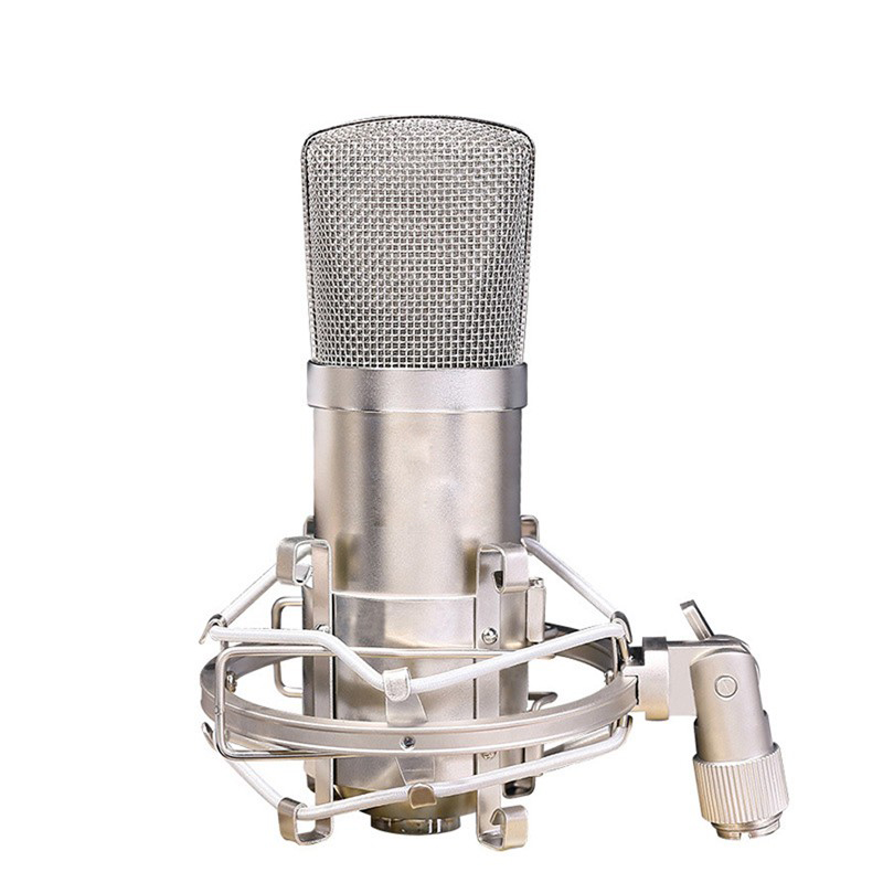 High Quality Professional Condenser Microphone Recording Music Broadcast Studio Wired Microphone with Shock Mount for Computer  professional recording sound wired condenser lecture microphone with black mic stand laptop microphone xlr cable recording