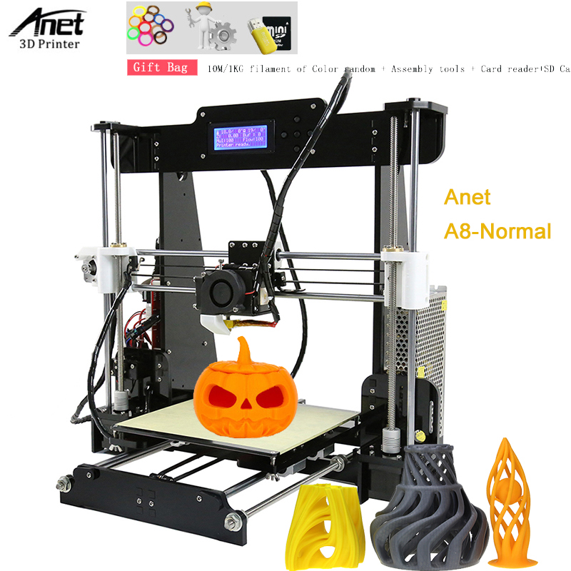 купить Anet A8 3D Printer Auto Leveling High Accuracy Desktop Reprap i3 DIY Printer Kit Self Assembly Support SD Card 3D Printer по цене 10787.8 рублей