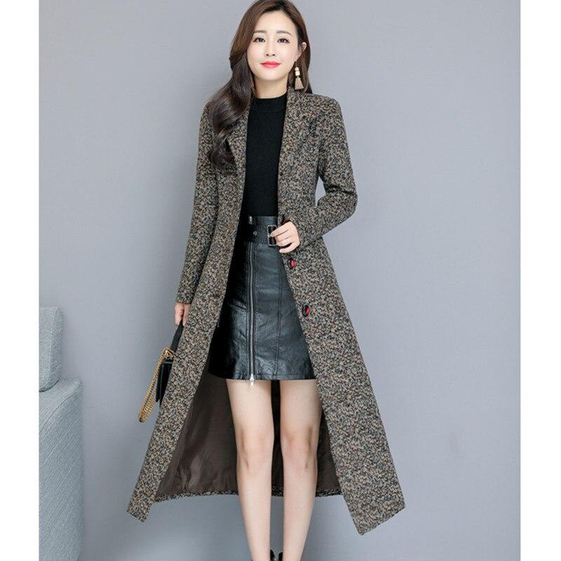 new concept 2eafb 45eed Cappotto Lungo Delle Donna Inverno Grigio Signore Coreano ...