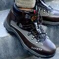 Большие размеры 48; безопасная обувь со стальным носком; нескользящие повседневные рабочие туфли; Зимняя Мужская Уличная Рабочая обувь