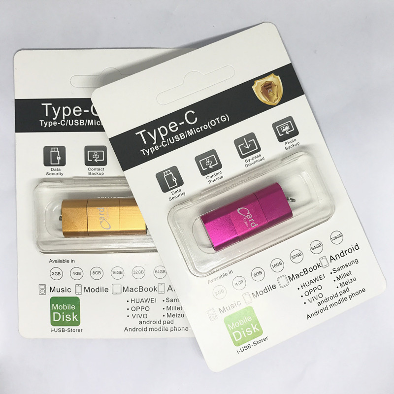 Купить с кэшбэком High Quallity!!!  Mini Typ-C USB Micro SD Card Reader , OTG Adapter microsd card tf card reader