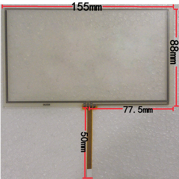 155*88mm Touch screen digitizer For HSD062IDW1 6.2 inch car-DVD Touch screen
