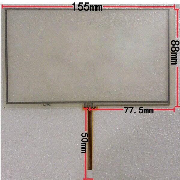 155*88mm digitalizador de pantalla táctil para HSD062IDW1 6,2 pulgadas coche DVD pantalla táctil