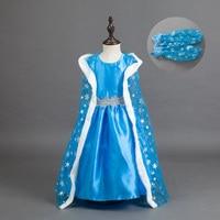Halloween Elsa Anna Girls Princess Costume Children Dress Cloth Party Vestidos Infants Sleeves Dress Baby Kids