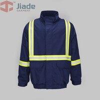 Jiade men's snag-resistant 반사 자켓 화염 방지 자켓