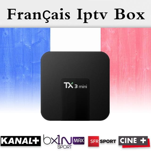 French Arabic IPTV TX3Mini 16GB Amlogic S905W Android 7.1 TV Box Quad Core 4K HDMI H.265 WiFi Kody Smart TV Box+1 Year IPTV+VOD