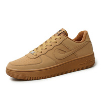Classic Men Brand White Shoes Air Force One AF1 Wheat Color Sneakers Mens Breathable Skateborad Shoes Man Comfortable Sport Shoe
