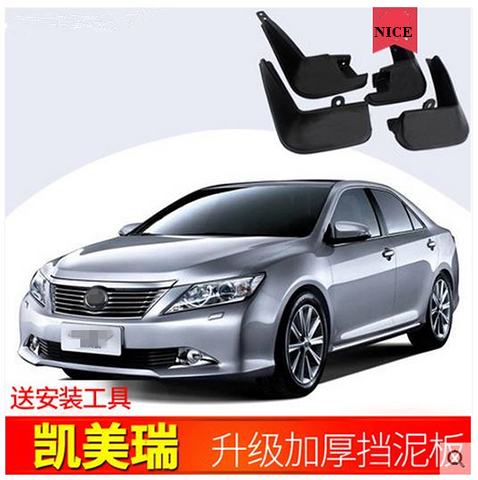 Auto Front Rear Mud Flaps 4pcs For Toyota Camry 2006 2018 6/7/8 generation Mudguards special car fender Mud Flaps Mudflaps Mudguards     - title=