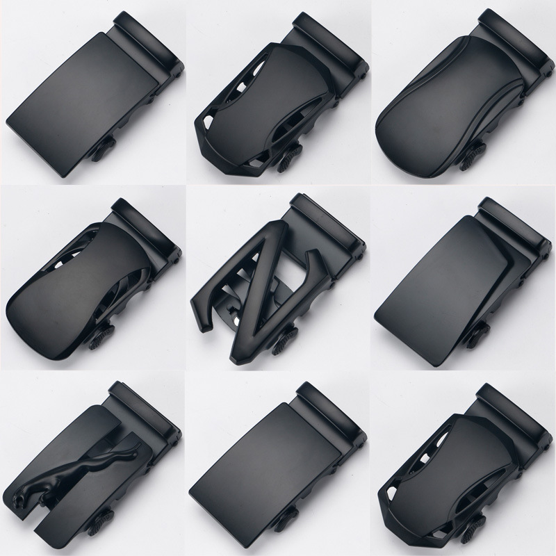 3.5cm Width Automatic Belt Buckle Luxury Brand Black Designer Belts Men High Quality Belt Buckles Head