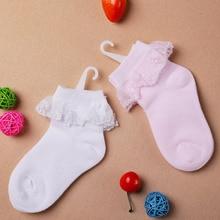 Thin Summer Baby Girls Kids Toddler White Pink Cotton Princess Socks Childrens Ankle Short Sock Breathable