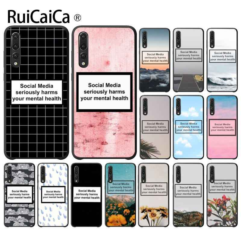 Ruicaica Social Media seriously harms your mental health Shell Phone Cover for Haiwei P10 plus Honor 9 10 View 10 Mate 9 Coque