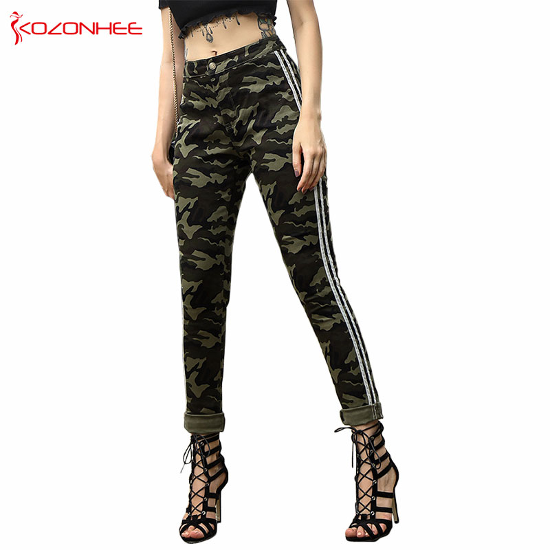 Fashion Camo Stretch   Jeans   With High Waist Women Elasticity Camouflage Tight Skinny Pencil Women   Jeans   #28