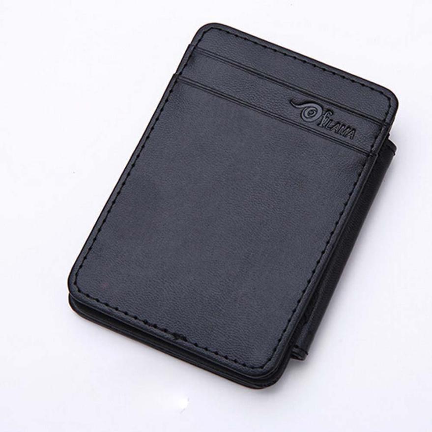 Slim male magic wallet leather purse men women high for Porte monnaie wallet