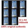 32 unids/pack aerfago batería recargable de baterías de ni-mh aa de la batería 2400 mah + caja de la batería portátil