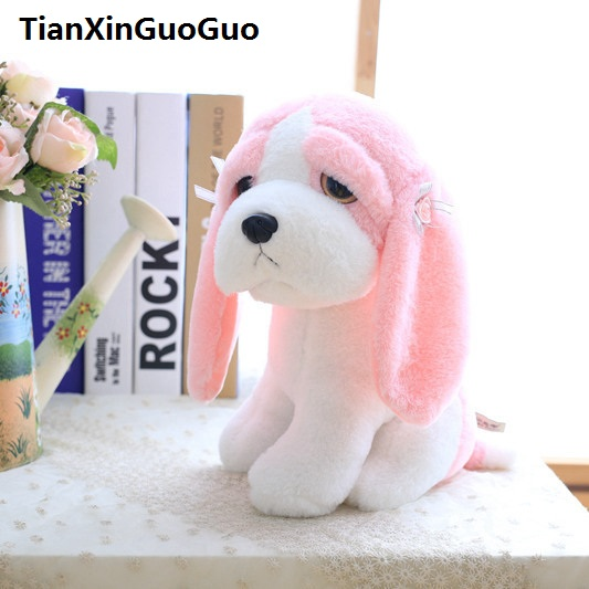 About 20cm Lovely Pink Puppy Plush Toy Cartoon Dog With Long Ears