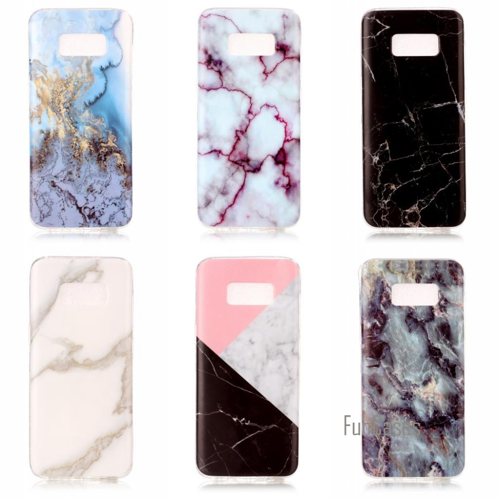 Fashion marble flower pattern soft tpu case cover For Samsung Galaxy S8 Samsung S8