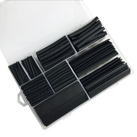 385pcs Heat Shrinking Tube 2 1 Shrinkage Ratio Black