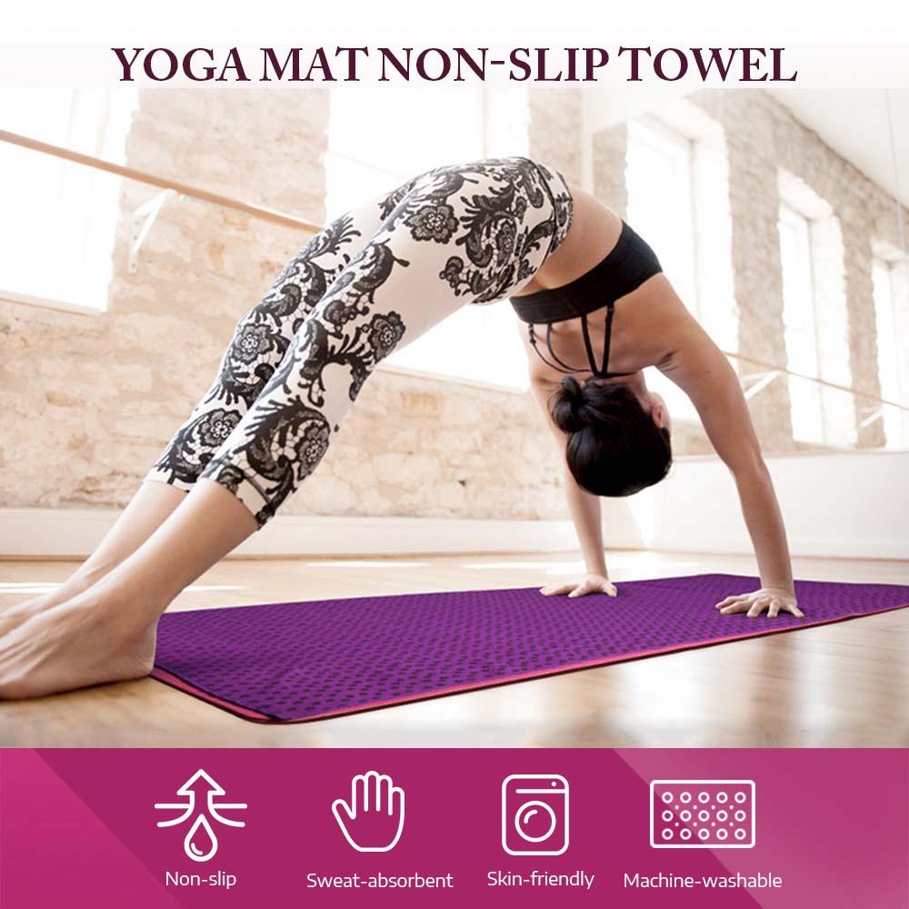 Yoga Mat Towel Travel Tapestry Blanket Non Slip Carpet