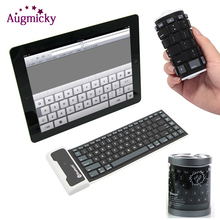Bluetooth Wireless Foldable Waterproof Universal Portable Soft Silicone Keyboard For Laptop For iPad New Smart Phone Keyboard цена и фото