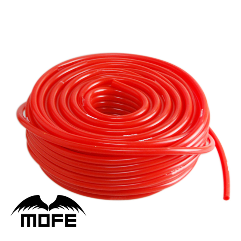 Mofe Car Styling Red Vacuum Silicone Hose Length: 5M 6MM Mofe Logo Fast Shipping