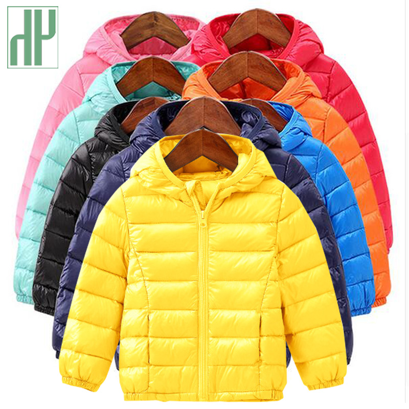 HH Baby Girls Boys Parka Light kids jacket hood cotton Down Coat winter children jacket spring fall toddler outerwear & coats