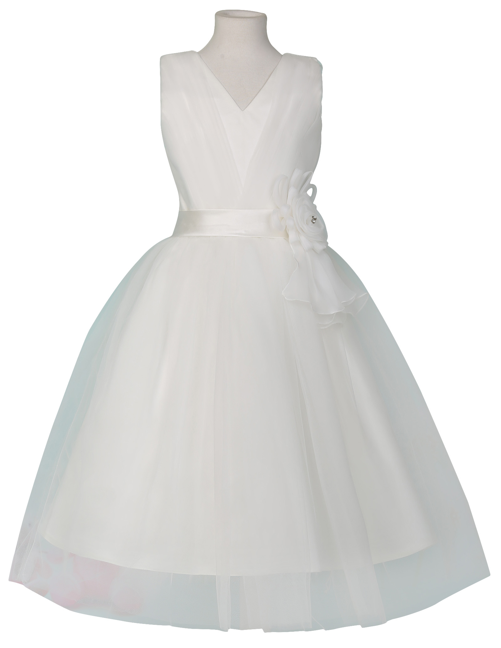 2016 New Cheap Flower Girl Dresses With Tulle For Weddings White First mun