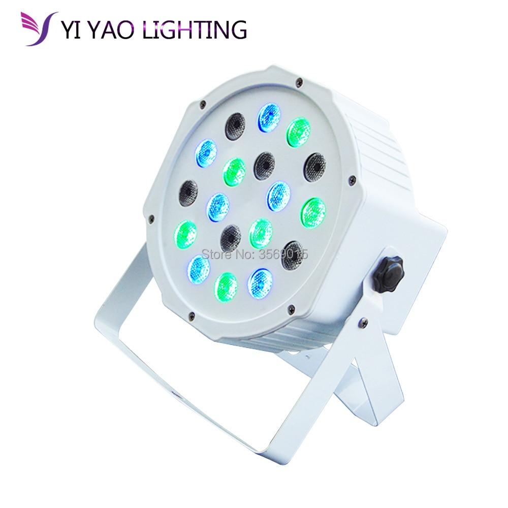 LED Par Light 18x3W 54W High Power RGB/UV With DMX512 Master DJ Equipments
