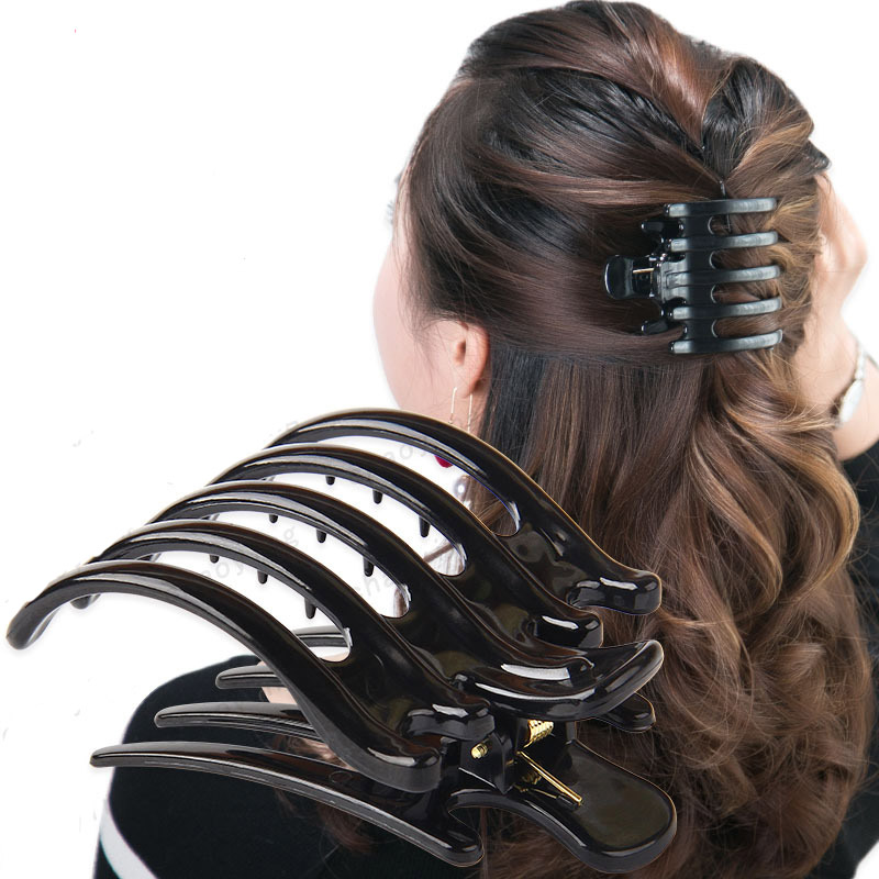 Large size Hair Claws Simple Strong Crab Hair Clips Clamp Black Butterfly Hairpin Decoration Holder Hair Accessory for Women 9356 women hair clip fashion hair claw black hairpin hair accessories for women simple hair crab clamp 2 7 2cm 12pcs lot